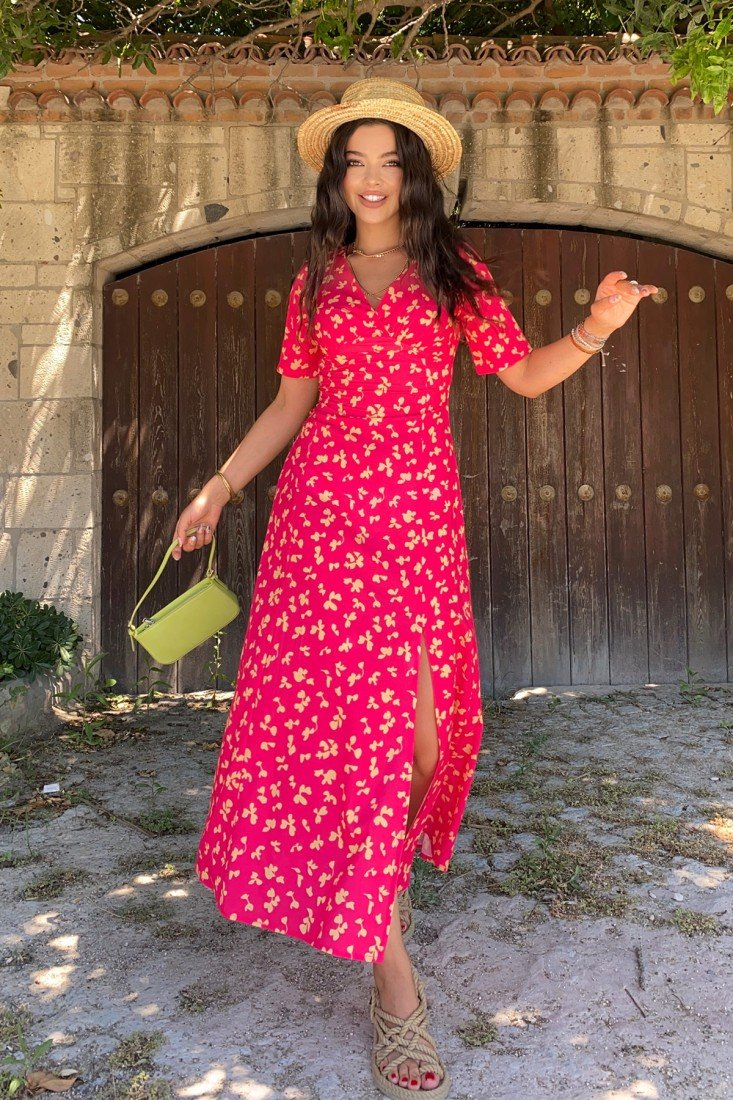 Double Breasted Collar Maxi Length Dress