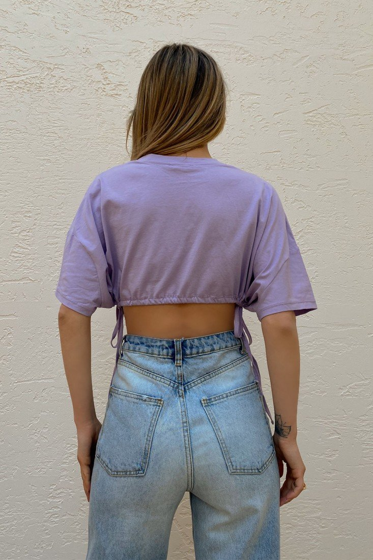 Lilac Pleated Oversize Blouse