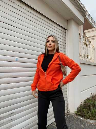 EYYO - Orange Hooded Sweat