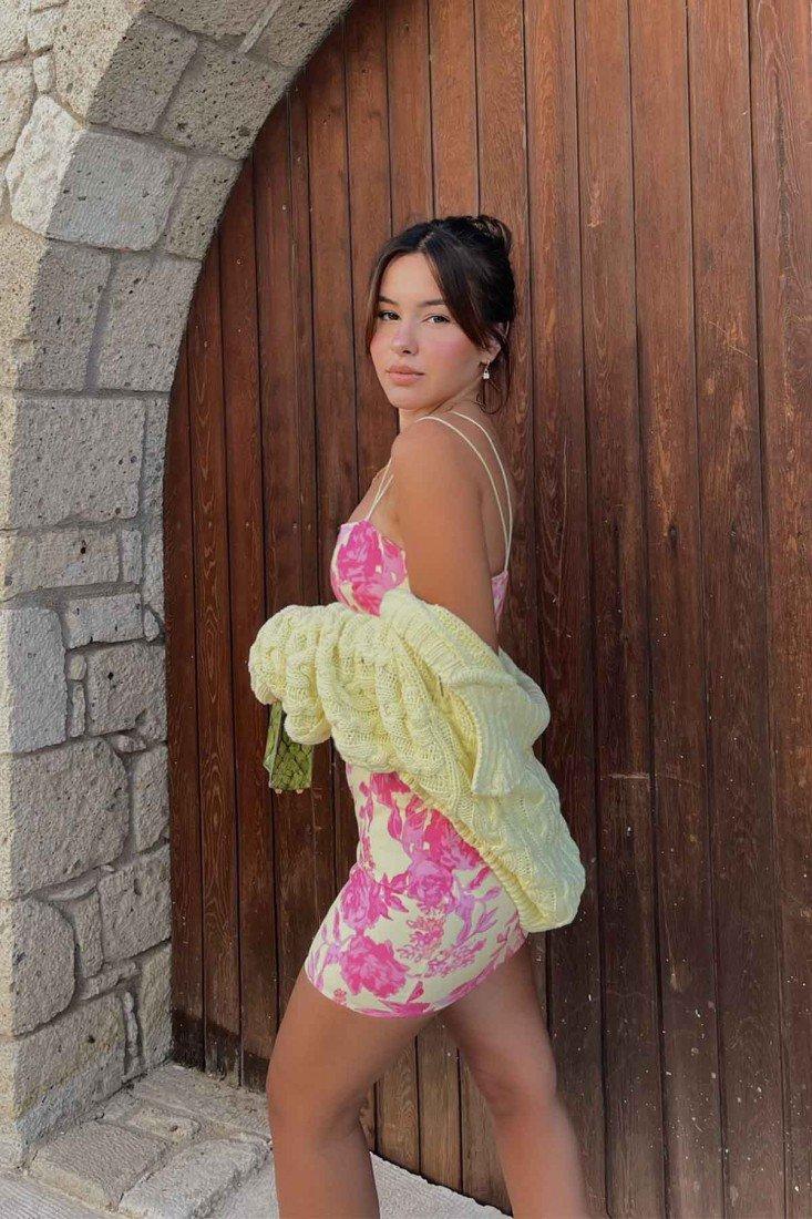 Pink Strap Mini Dress