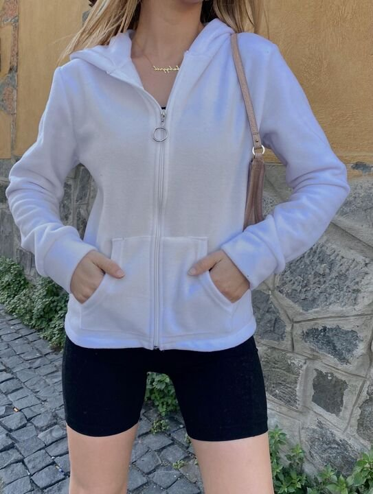 White Hooded Sweat